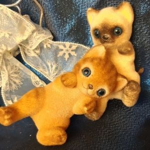 Funny Fuzzy Kitten Figures Home Accents